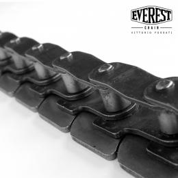 Catena a maglie false con piastre superiori a forma di tacco