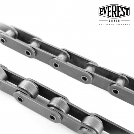 Double pitch chains with hollow pins