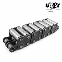 Double chains with two carrier rollers on top